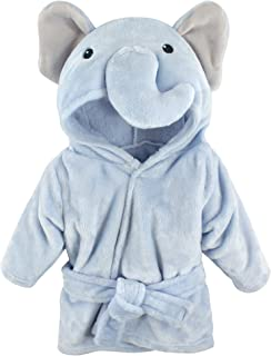 Hudson Baby Soft Plush Baby Bathrobe, Blue Elephant, 0-9...