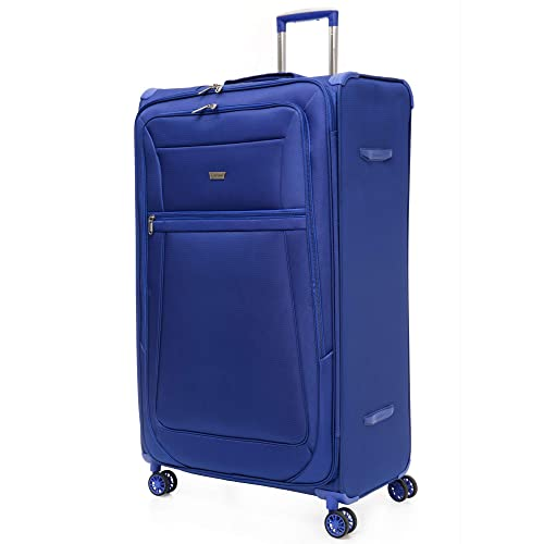 "Aerolite Extra Large 32"" Reinforced Super Strong and Light Large 8 Wheel Lightweight Hold Check in Luggage Suitcase, Midnight Blue"