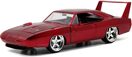 Jada Toys Fast & Furious Dom's Dodge Charger Daytona DIE-CAST Car, 1: 24 Scale Red