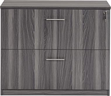 Safco Medina Lateral File Cabinet, 2 Drawer, Gray Steel