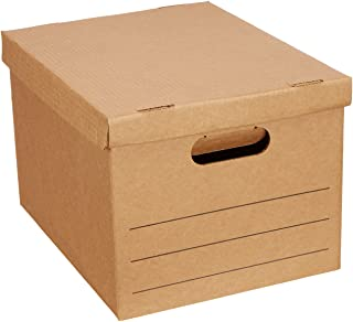 """Amazon Basics Moving Boxes with Lid and Handles - 15"""" x 10"""" x 12"""", Small, 20-Pack"""