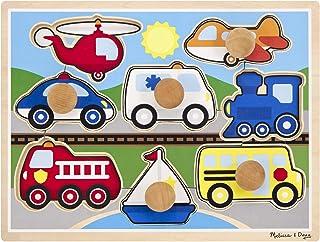 Melissa and Doug Vehicles Jumbo Knob Puzzle