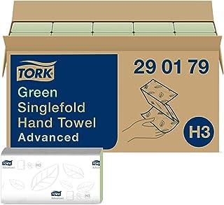 Tork Essuie-mains pliés en V Advanced - 290179 - Papier d'essuyage pour Distributeur H3 - Absorbant et indéchirable, 2 pli...