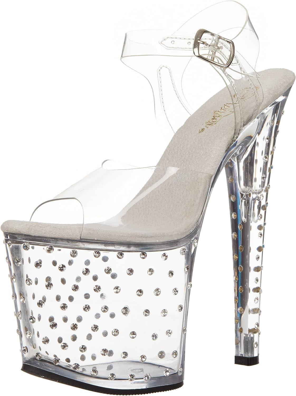 Pleaser Women's Stardust-758 Platform Sandal
