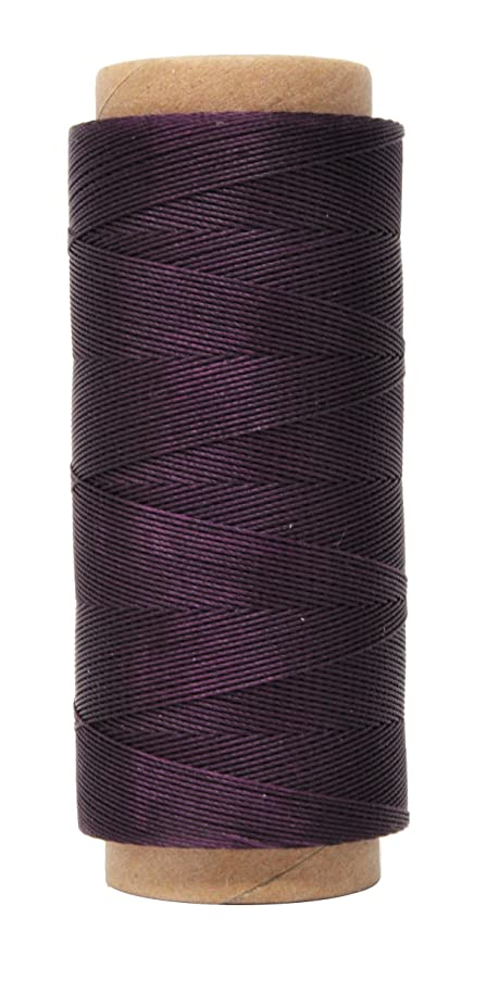 Mandala Crafts 0.45mm Leather Sewing Hand Stitching Jewelry Craft Round Waxed Thread String Cord (0.45mm, Purple)