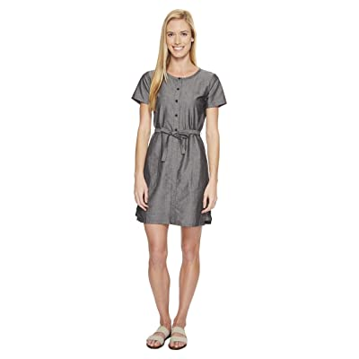 NAU Short Sleeve Twisted Dress (Caviar) Women