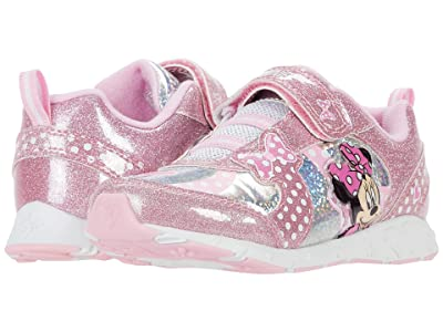 Josmo Kids Minnie Lighted Sneaker (Toddler/Little Kid) (Pink/Silver) Girl