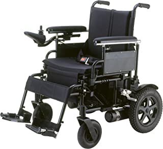 Drive Medical Cirrus Plus Folding Power Wheelchair with Footrest and Batteries, Black, 20