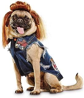Bootique Denim Vest and Mullet Dog Costume, Medium