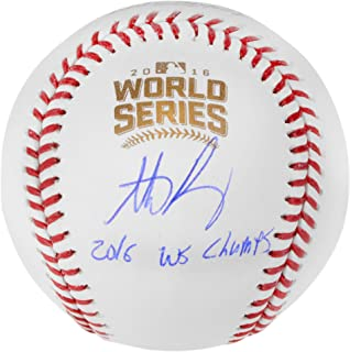 Anthony Rizzo Chicago Cubs 2016 MLB World Series Champions Autographed World Series Logo Baseball with