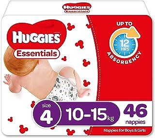 Huggies Essentials Nappies Size 4 (10-15kg) 46 Count