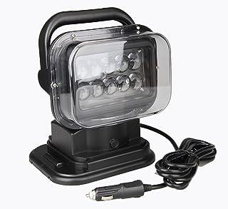LEDサーチライト リモコン式 ポーペ(POOPEE) 強力 CREE製 50w 12v-24v兼用 遠隔操作 車 ボート 船舶照明 作業灯 防水 黒