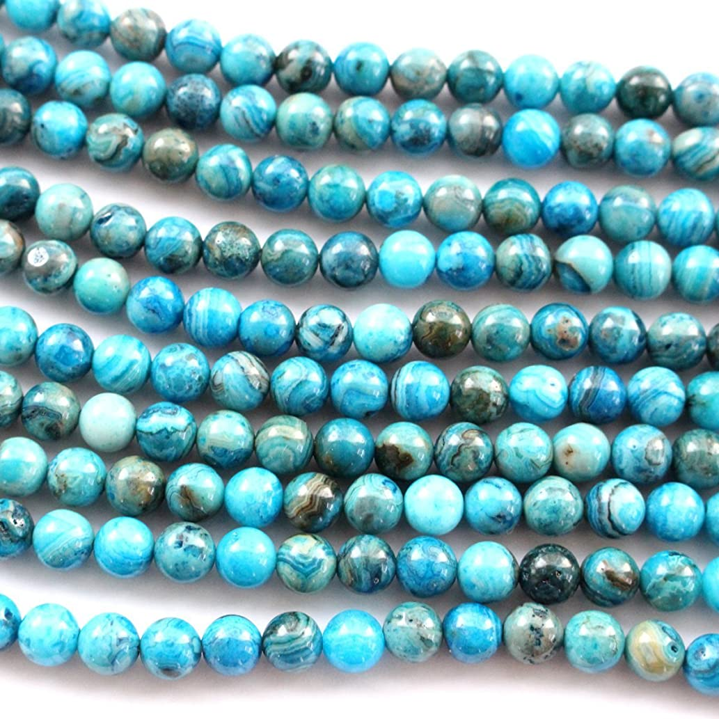 Natural Blue Crazy Lace Agate Round Gemstone Loose Beads for Bracelet (4mm)
