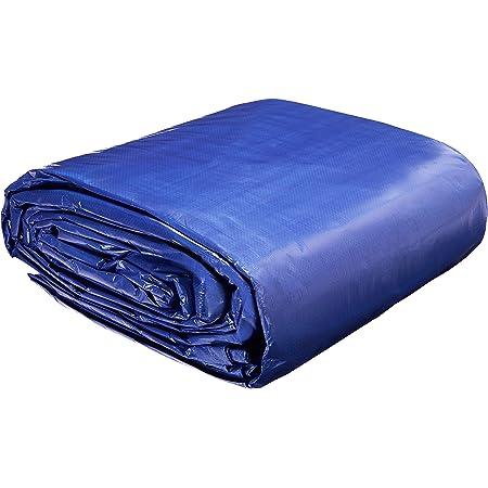 AmazonCommercial - Lona impermeable de poliéster multiusos, 9 x 12 m, 0,127 mm de espesor, azul, pack de 1 unidad