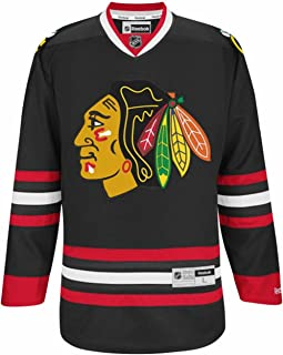 Chicago Blackhawks Jersey Black Premier Stitched-10754-10758
