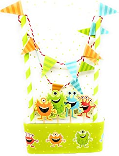 Linara Boutique Birthday Cake Bunting Flag Topper (Monster)