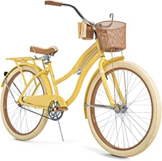 Huffy Nel Lusso Women's Classic Cruiser Bike Frame Yellow, 26