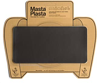 MastaPlasta Self-Adhesive Patch for Leather and Vinyl Repair, Large, Dark Brown - 8 x 4 Inch