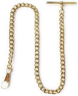Gold Albert Vest Pocket Watch Chain with T bar 3910-G