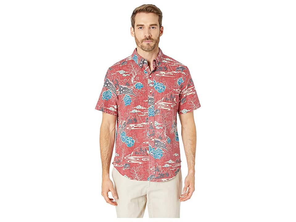 Reyn Spooner Year Of The Boar Tailored Fit Hawaiian Shirt (Garnet) Men