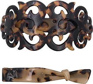 Strong Large Barrette Hair Clip Grip Set For Thick Hair Tortoise Shell Pattern For Women Girls
