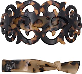 Strong Large Barrette Hair Clip Grip Set for Thick Hair Tortoise Shell Pattern Women Girls