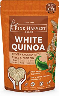 Pink Harvest Farms White Quinoa Pouch, 500 Gm