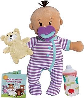 """Manhattan Toy Wee Baby Stella Beige Sleepy Times Scent 12"""" Soft Baby Doll Set"""