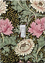 3-D Effect Printed Maxi William Morris Chrysanthemum Pattern Switch/Outlet Cover L0053 (1-gang toggle)