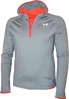 Under Armour Men's Athletic 3/4 Zip Hooded Running Long Sleeve Shirt Hoodie