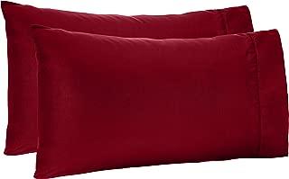 AmazonBasics Light-Weight Microfiber Pillowcases - 2-Pack, Standard, Burgundy
