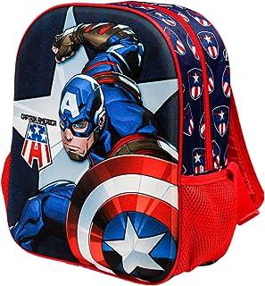 Capitán América Guard-Mochila 3D (Pequeña), Multicolor