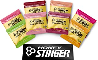 Honey Stinger Organic Energy Chews – Variety Pack – 8 Count – Cherry Blossom, Lime-Aid, Cherry Cola, Fruit Smoothie, Orange Blossom, Pink Lemonade, Pomegranate Passionfruit & Grapefruit – Plus Sticker