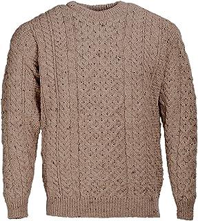 100/% laine de m/érinos irlandais pour femme /à capuche Aran Zip Cardigan en West End en tricot