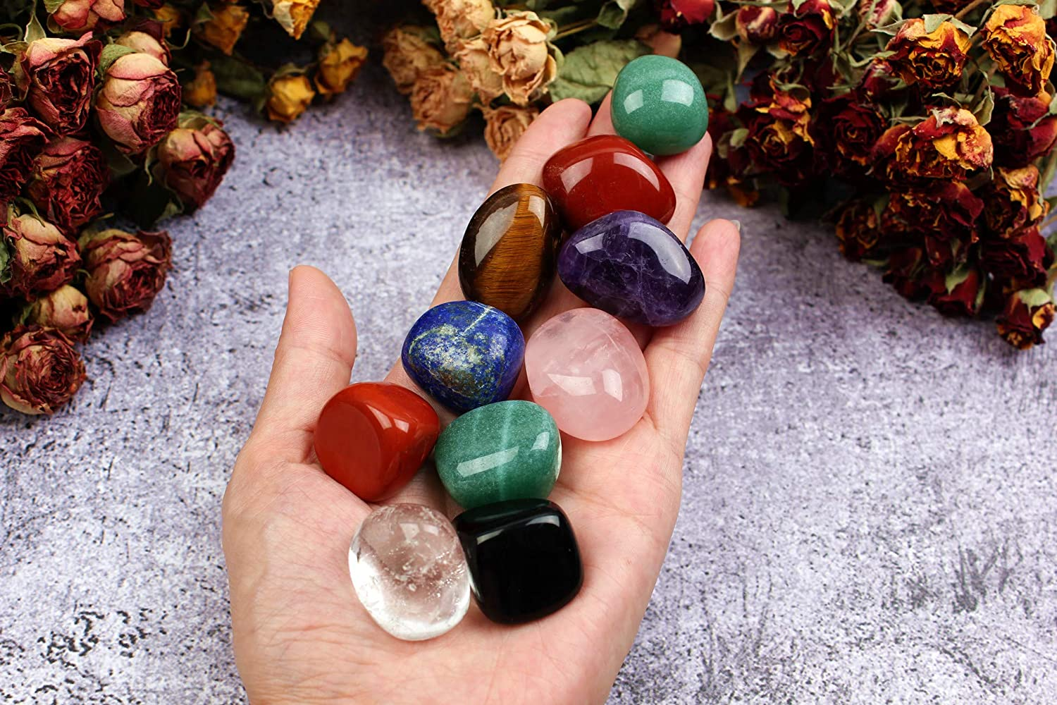 Yunoun Natural Assorted Gemstone Credence Bulk Large Manufacturer direct delivery Wicc Crystal and for