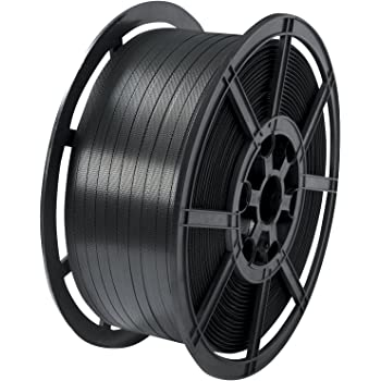 12mm x 2000m Parcel Banding 135kg Brake Coil Black Long Strapping Poly Propylene