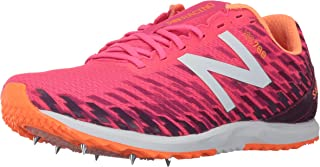 New Balance Women's 700V5 Removable Spike Track-Shoes, Alpha Pink/Dark Mulberry, 8.5 B US