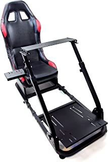 Tanaka Driving Simulator Wheel Stand Cockpit Gaming Chair with Gear Shifter Mount (Black with Racing Chair)