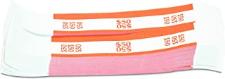 MMF Industries Currency Straps for Ones, 50 Dollar Capacity, 1.25 Inch Width, 1000 Straps per Box, Orange (216070B16)