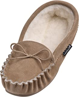 Lambland Mens Premium Suede Wool Lined Moccasins