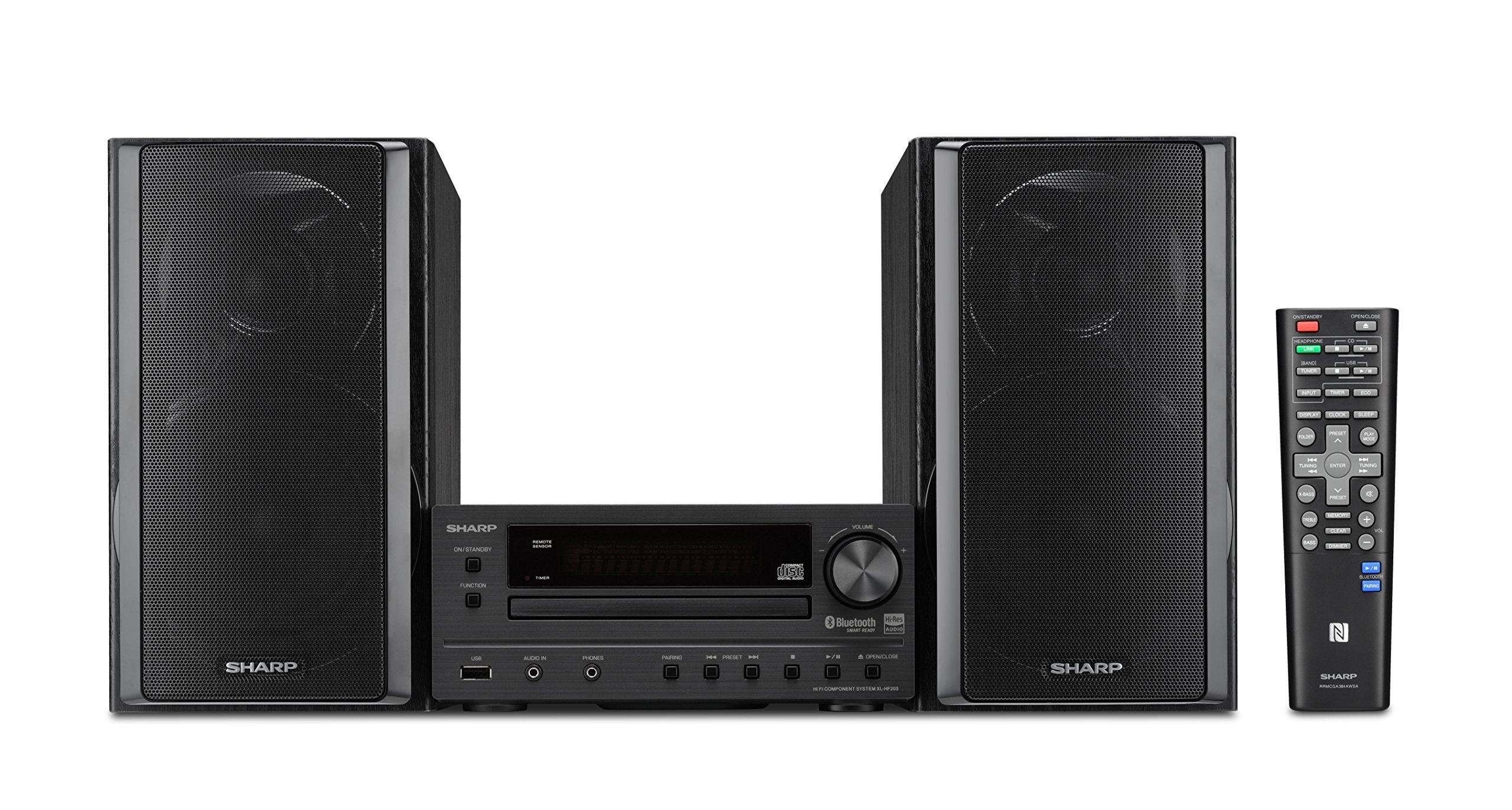 Sharp XL HF203B Component Speaker Resolution