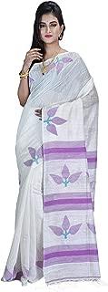 SareesofBengal Women's Handloom Matka(Muslin) Silk Jamdani Saree