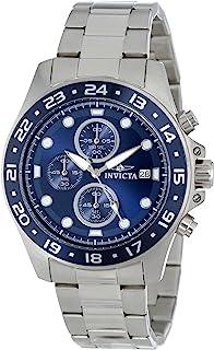 ساعة برو درايفر كرونوجراف 15205 من الستانلس ستيل بمينا بلون أزرق من انفيكتا