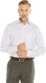 Savile Row Men's Non-Iron Grey Herringbone Classic Fit Shirt Single Or Double Cuff