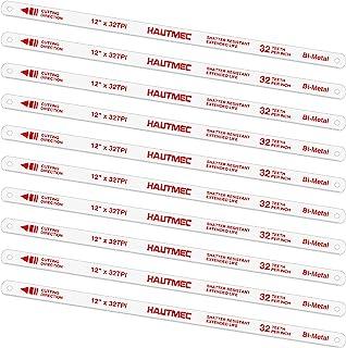HAUTMEC Hojas de repuesto para sierras de arco BI-METAL (paquete de 10) Dientes con conexión a tierra de acero de alta vel...