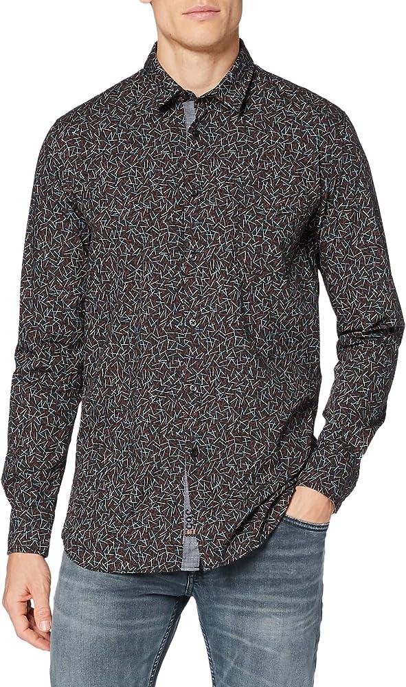 Boss, camicia per uomo,72% cotone, 25% poliammide, 3% elastan 50444315