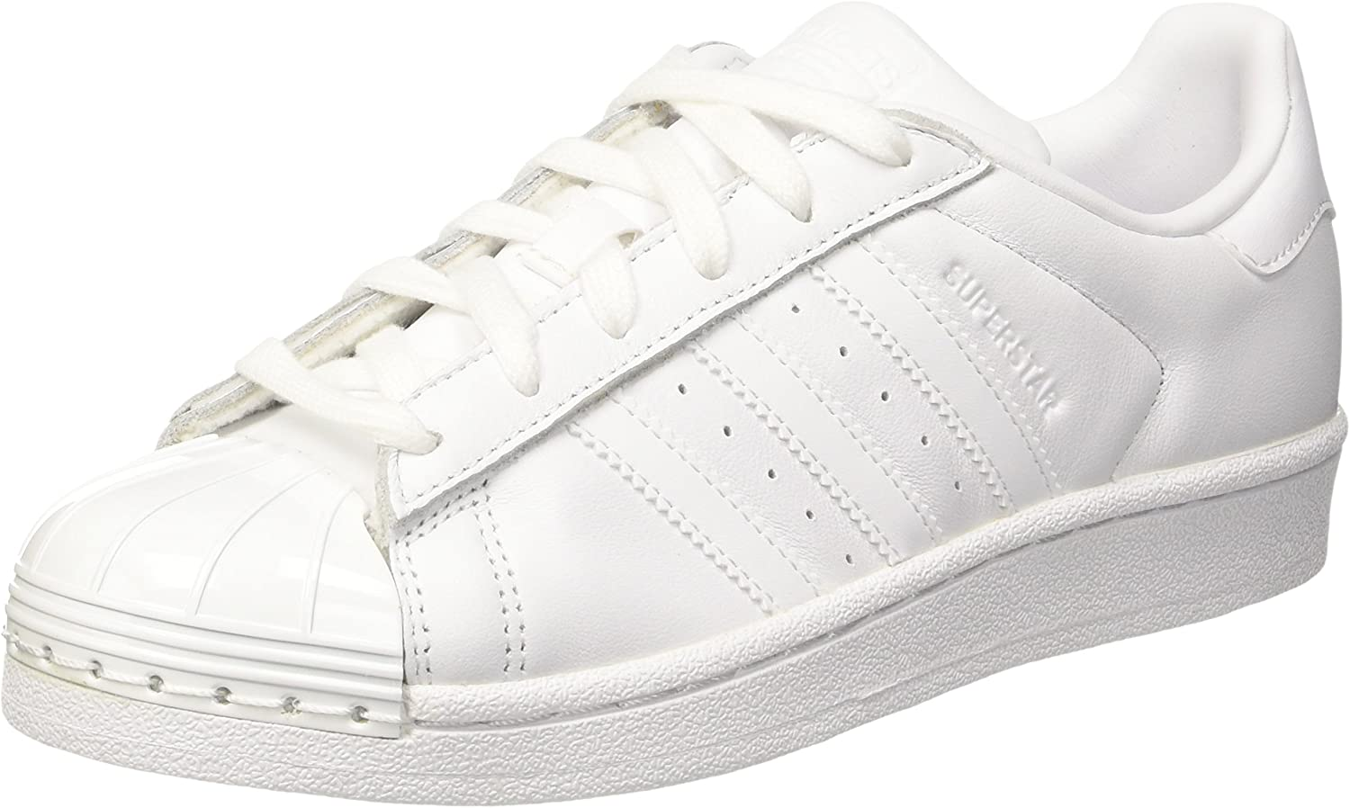 Adidas Originals Womens Superstar Metal Toe Trainers-White