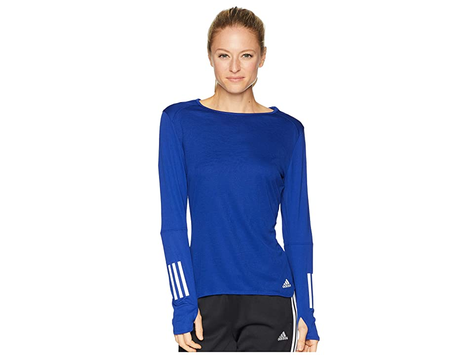 adidas Response Long Sleeve Tee (Mystery Ink) Women