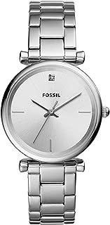 Fossil Women's Carlie Stainless Steel Diamond Accent Quartz Watch