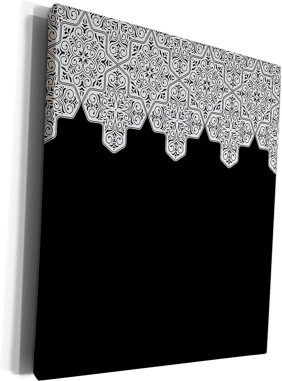 3dRose Outstanding TDSwhite – Patterns Designs Elegant White Damask Black - Max 44% OFF